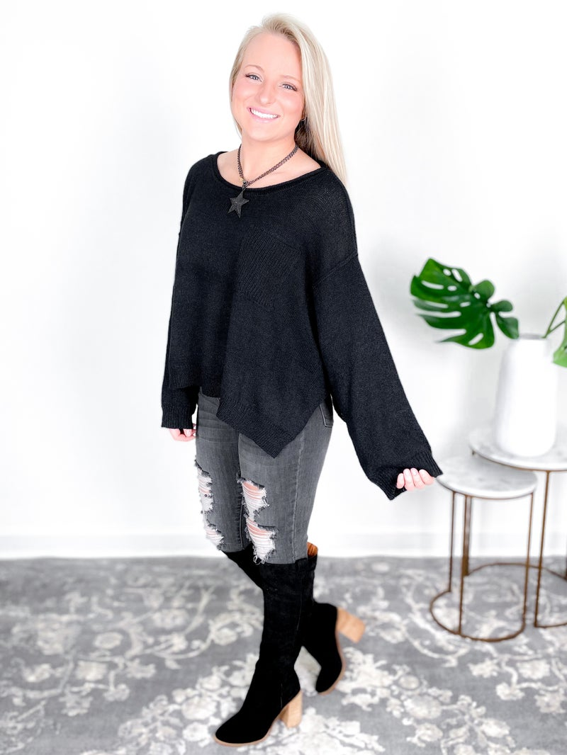 Solid Wide Neck Crop Sweater (Multiple Colors)