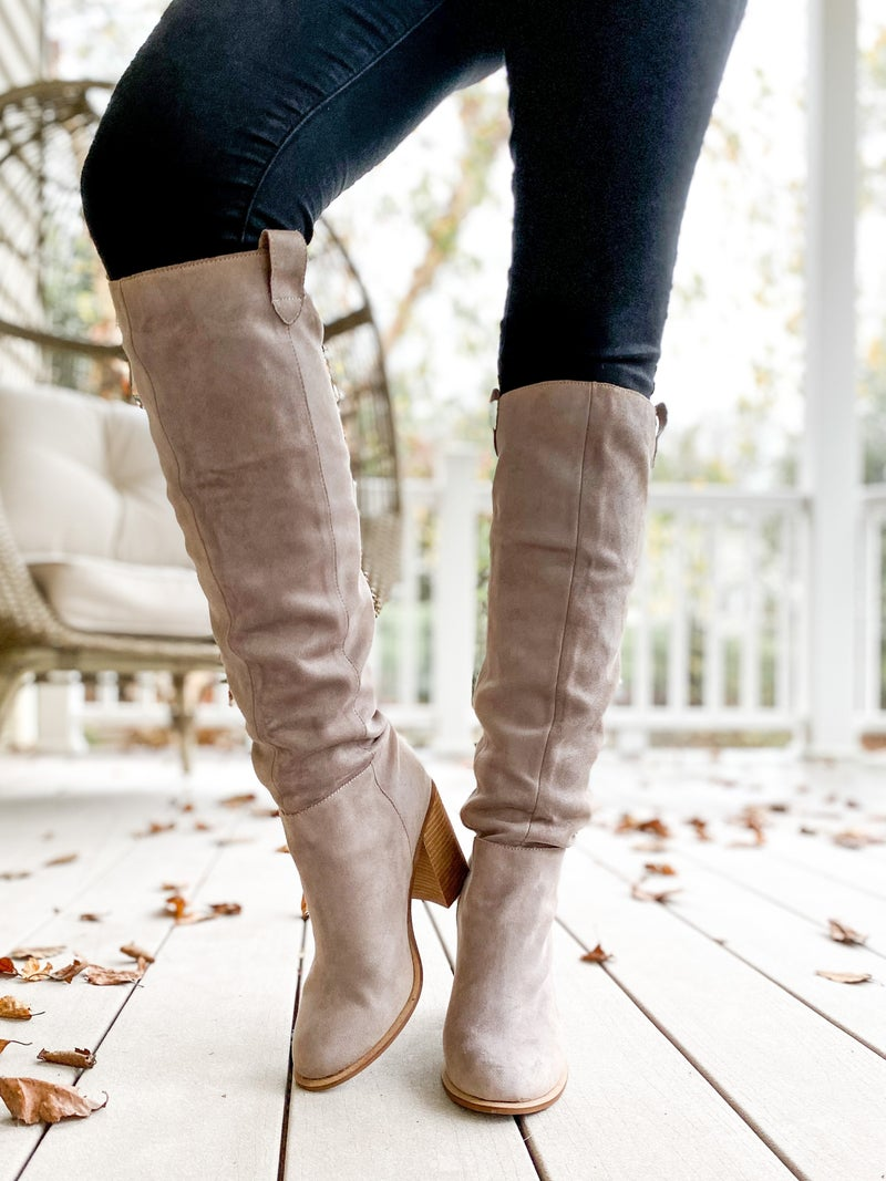 Tall Suede Boots (Multiple Colors)