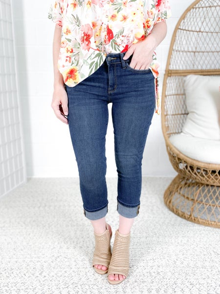 Plus/Reg Judy Blue Take Me To Capri Non-Distressed Jeans