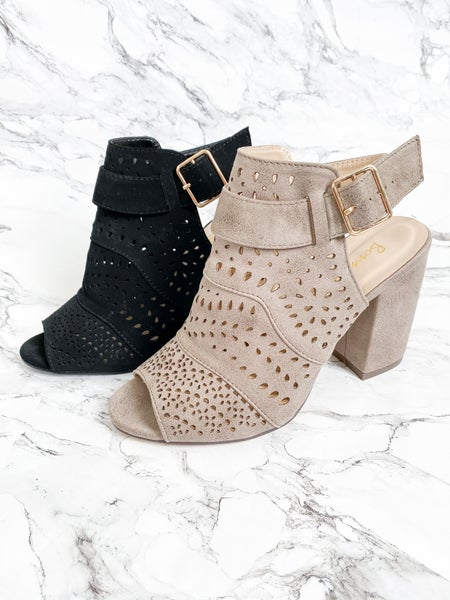 Boho Cutout Wedge Heel (Multiple Colors)