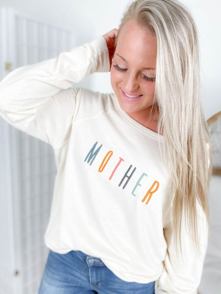 Embroidered MOTHER Graphic Sweatshirt