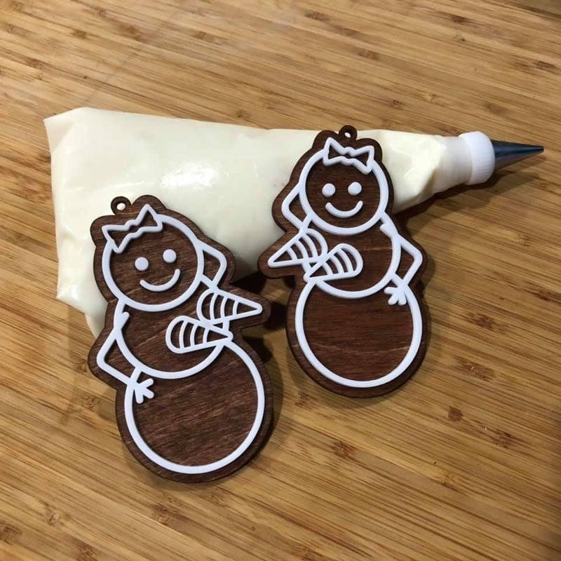 Funny gingerbread ornaments