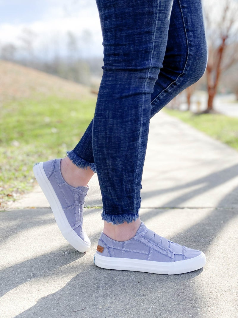 Blowfish Dusty Lavender Distressed Low Rise Sneaker