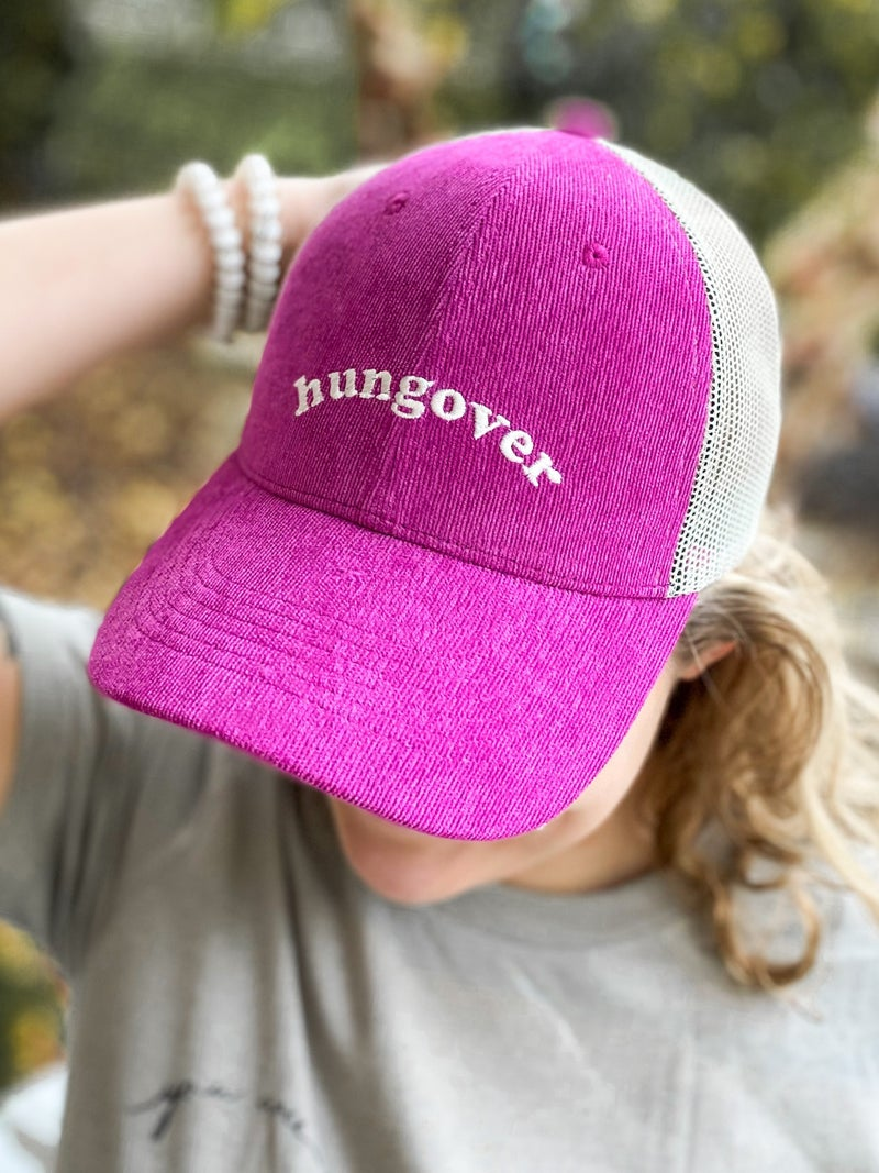 Hungover Corduroy Trucker Hat