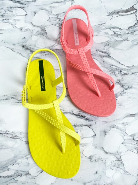 Ipanema Unique T-Strap Detail Flip Flops (Multiple Colors)