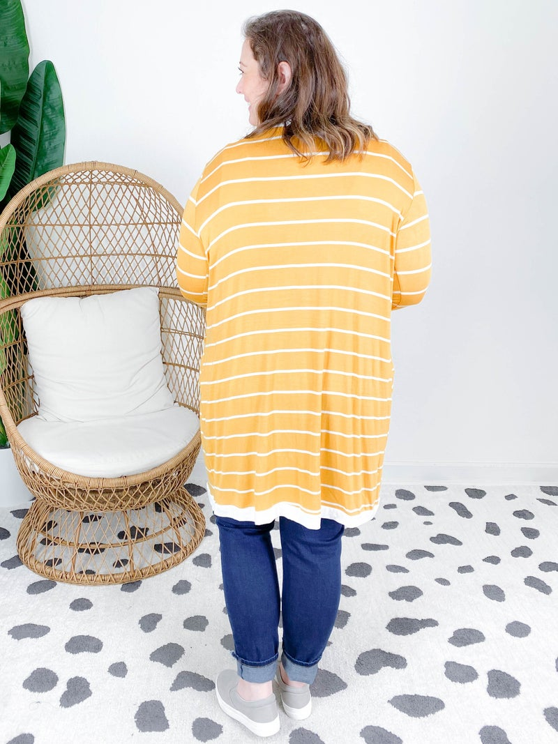 PLUS/REG Stripe Cardigan (Multiple Colors)