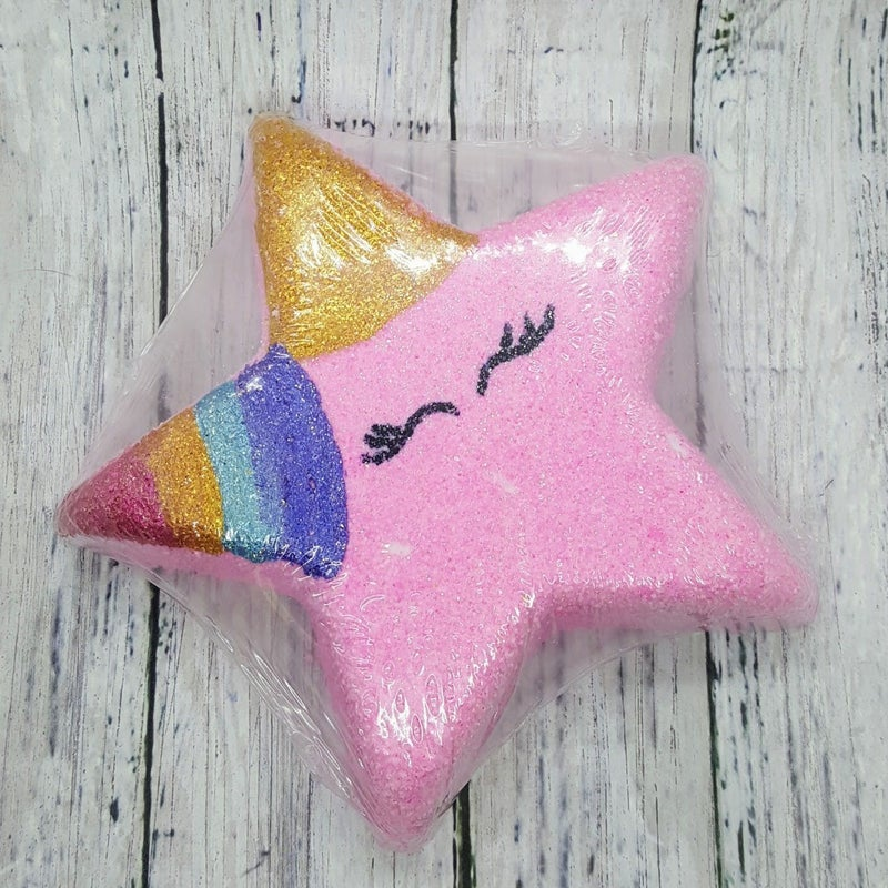 Rainbow Unicorn Star Bath Bomb