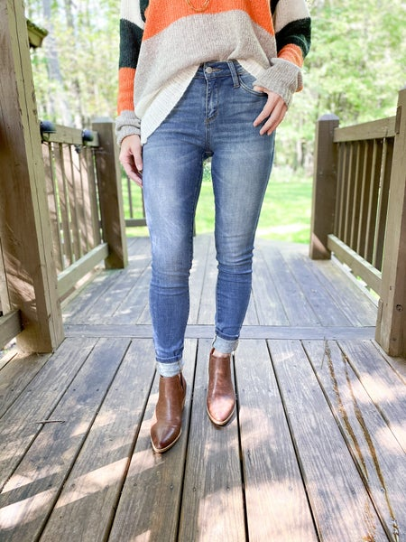 PLUS/REG Judy Blue BEST DAMN SKINNIES EVER (BDS) Pin Tacked Non-Distressed