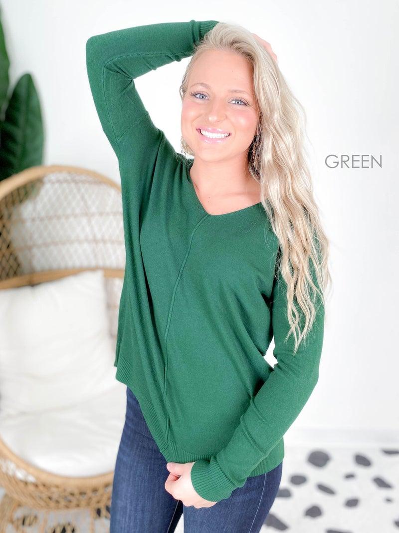 Door Buster! Zenana High Low Sweater with V Neckline (Multiple Colors)