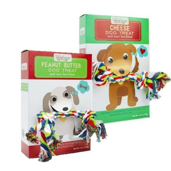Dog Treat & Rope Toy (Multiple Flavors)