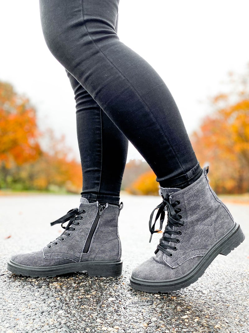 Lace Up Combat Boots (Multiple Colors)