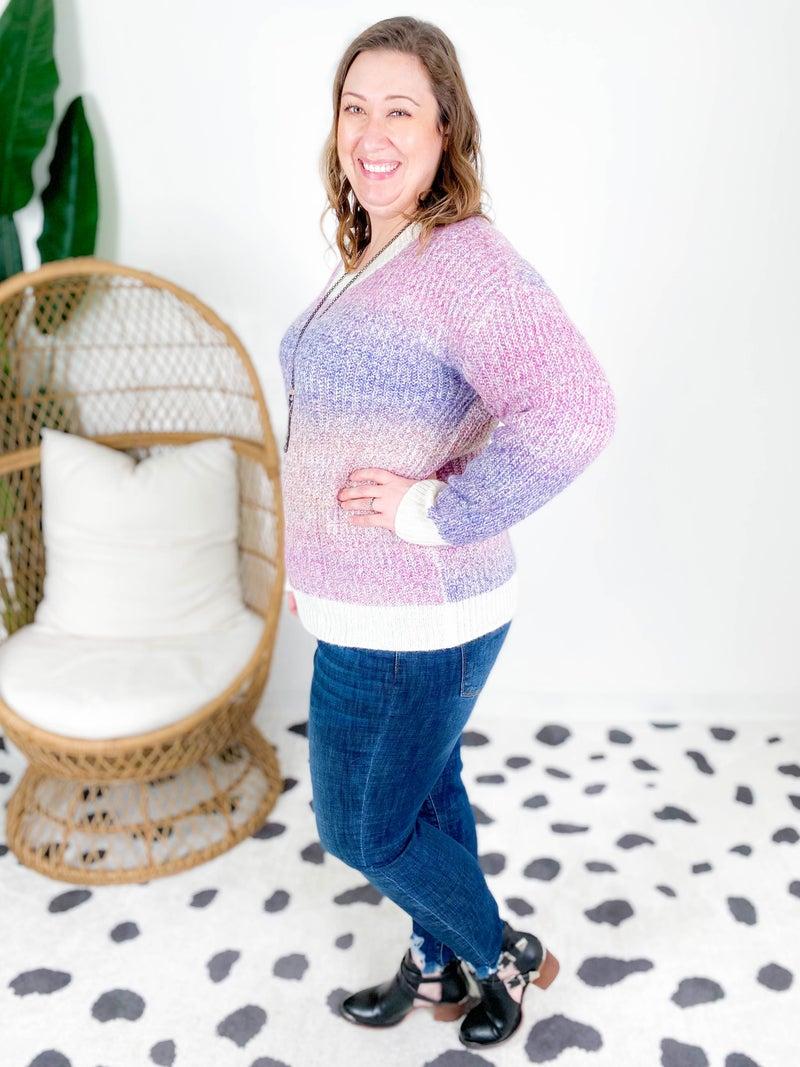 Purple Ombre Sweater