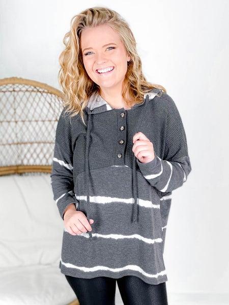 PLUS/REG Long Sleeve Tie Dye Knit Sweater