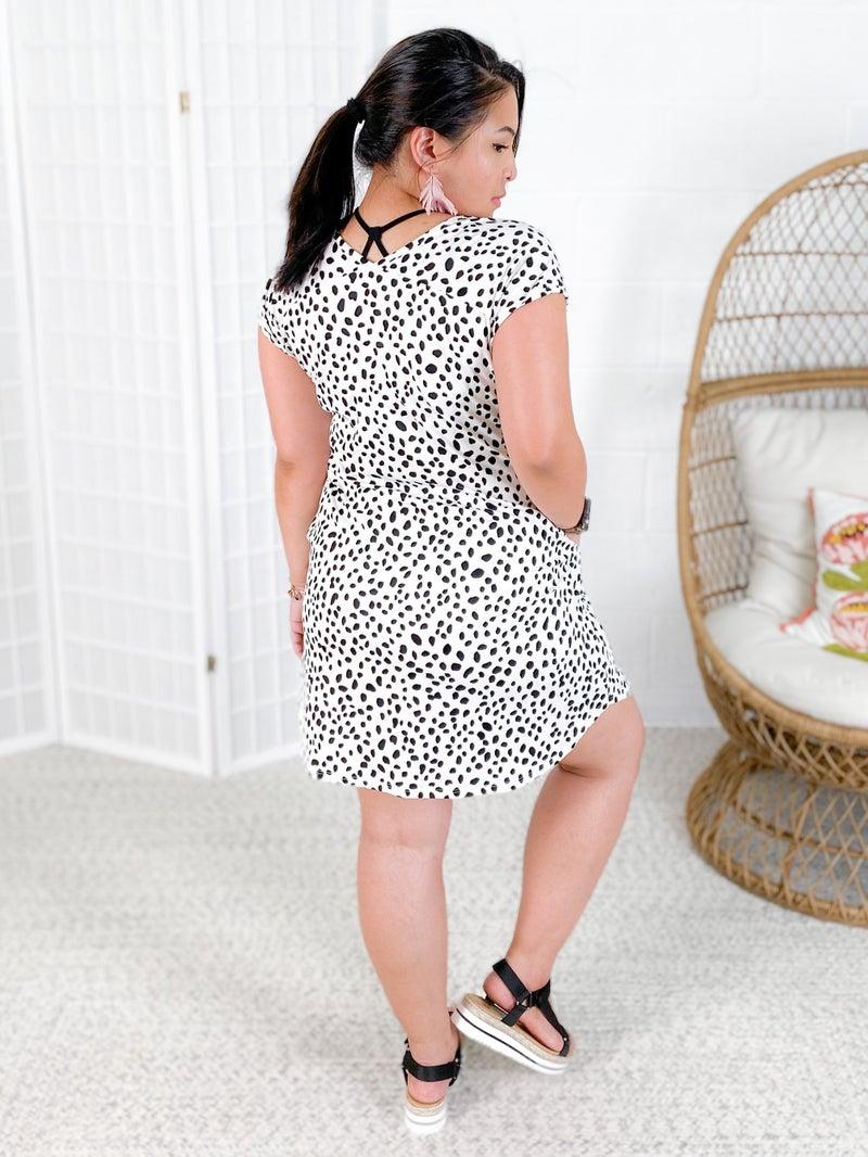 PLUS/REG Cheetah Print Knit Dress (Multiple Colors)
