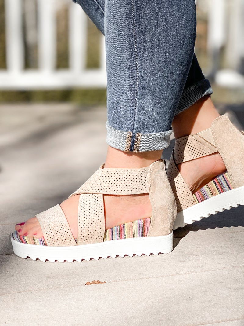 Platform Wedge Sandals (Multiple Colors)