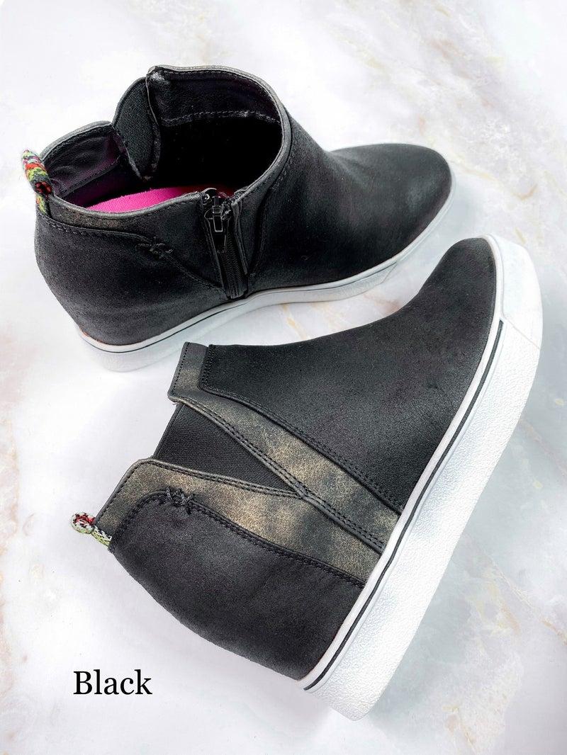 RESTOCK! Wedge Sneaker with Metallic Detail (Multiple Colors)