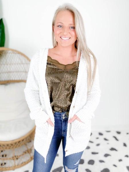 PLUS/REG Super Soft Ivory Oversized Hooded Sweater