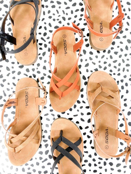 Soda Strappy Thong Sandals (Multiple Colors)