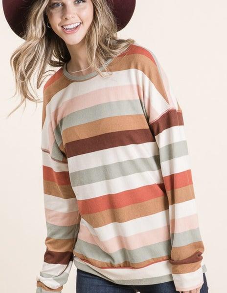 Soft Stripe Top *Final Sale*
