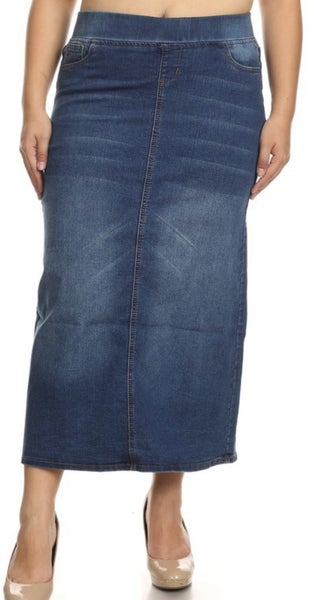 Be-Girl Long Denim Skirt ~3 colors *Final Sale*