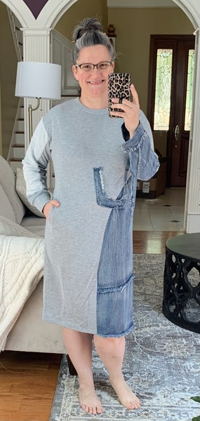 Grey/Denim Tunic Dress