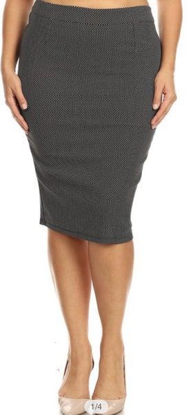Black/White Tiny Dot Skirt