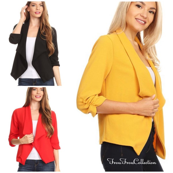 Christina ~ Solid Blazer Jacket