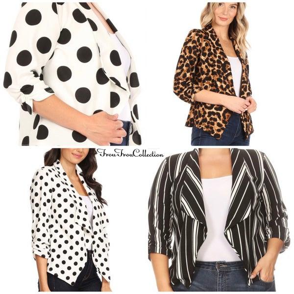 Christina ~ Printed Blazer Jacket