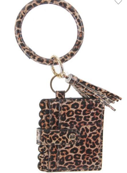 Key Chain Wallet with Tassel