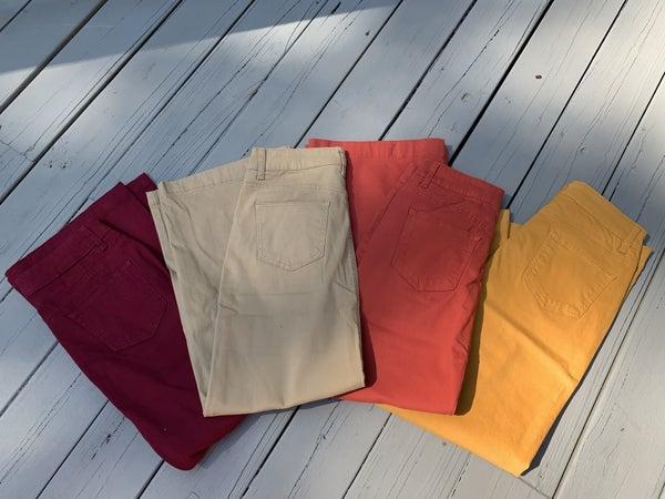 "Jennifer ~ Be-Girl Long Twill Denim Colored Skirts - 38"" *Final Sale*"