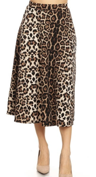 Briley ~ Leopard Circle Skirt *Final Sale*