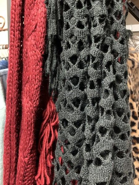 Infinity Crochet Fringe Scarf *Final Sale*