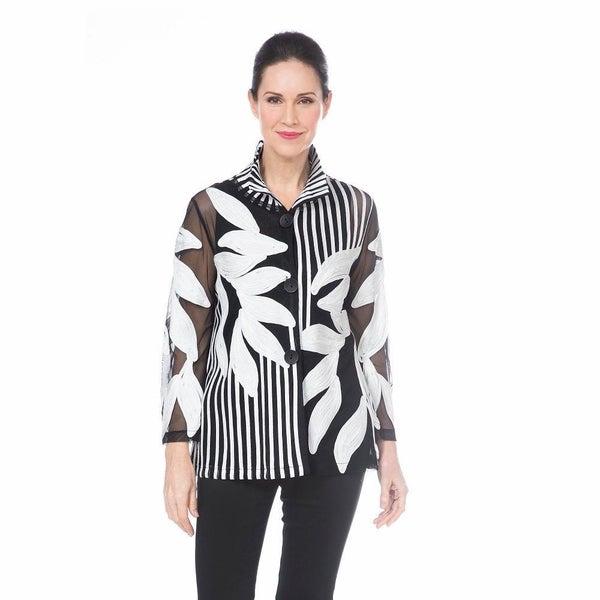 Damee - Leaf  Striped Soutache Jacket