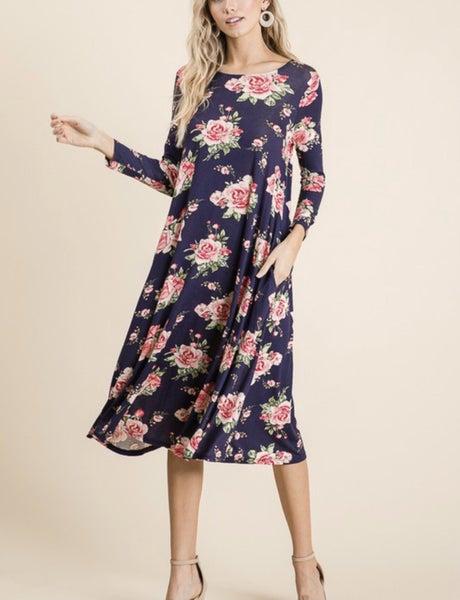 Anna Belle - Floral Midi Dress