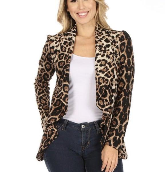 Missy ~ Leopard Blazer Jacket