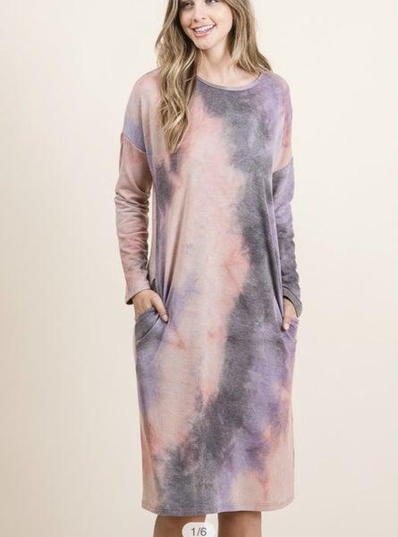 Maddie Midi Dress - Tie Dye *Final Sale*