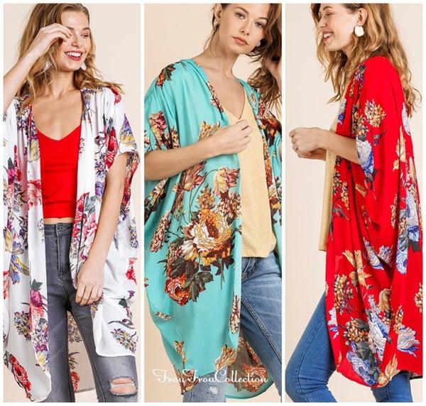 Florals On My Mind - Kimono
