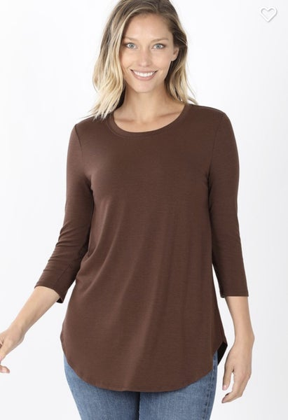 Shannon ~ 3/4 Sleeve Layering Top