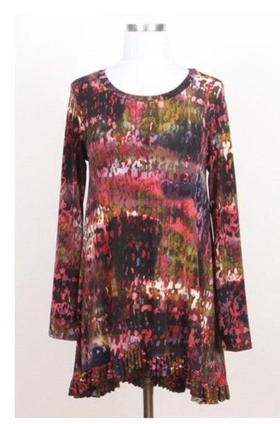 Lisa ~ Abstract Print Hi/Lo Tunic *Final Sale*