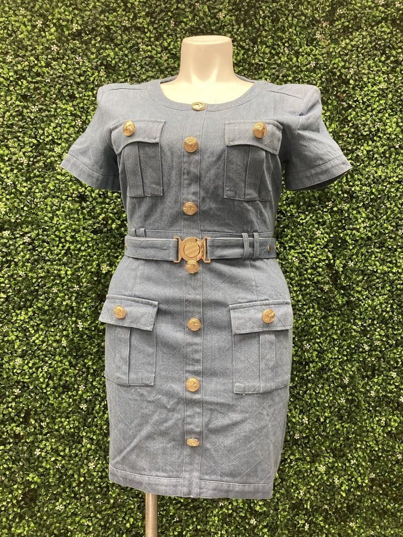 Dazzling Denim Dress