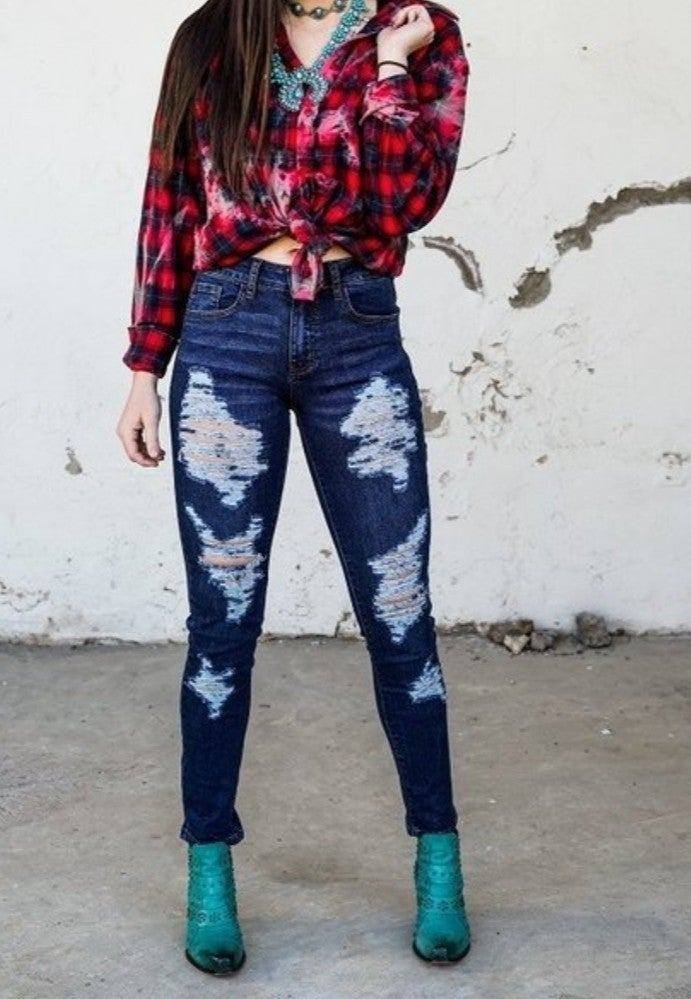 Dark And Distressed Jeans