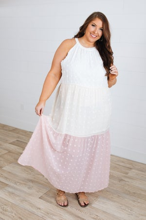 sku18323 | Swiss Dot Maxi Dress