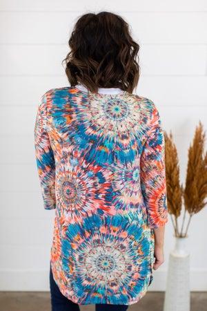 sku15313 | Sunburst Kimono Cardigan