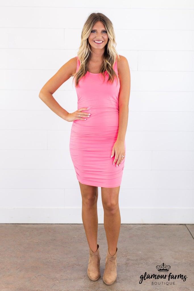 sku15038 | **Daily Deal** Shirred Tank Dress