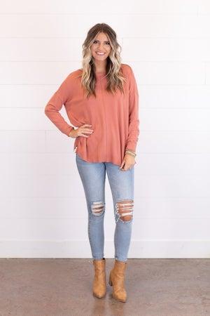 sku16255 | Butter Soft Front Seam Sweater