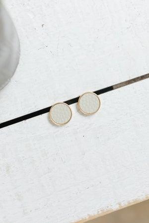 sku20428   Leatherette Stud Earrings