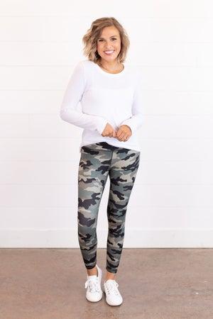 sku15982 | **Daily Deal** Camo Capri Yoga Leggings
