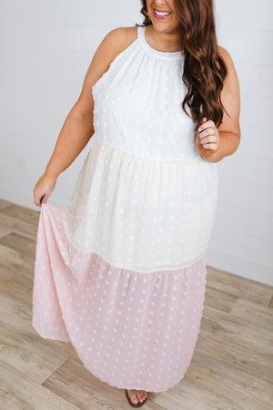 sku18323   Swiss Dot Maxi Dress