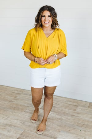 sku19785 | **Daily Deal** Pintucked Bell Sleeve Top