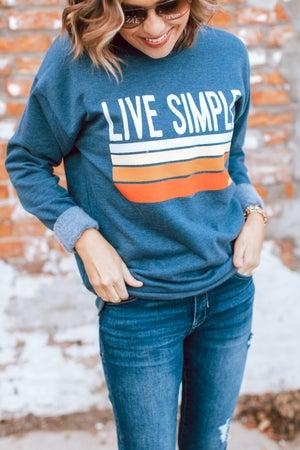 sku17588 | Live Simple Graphic Sweatshirt